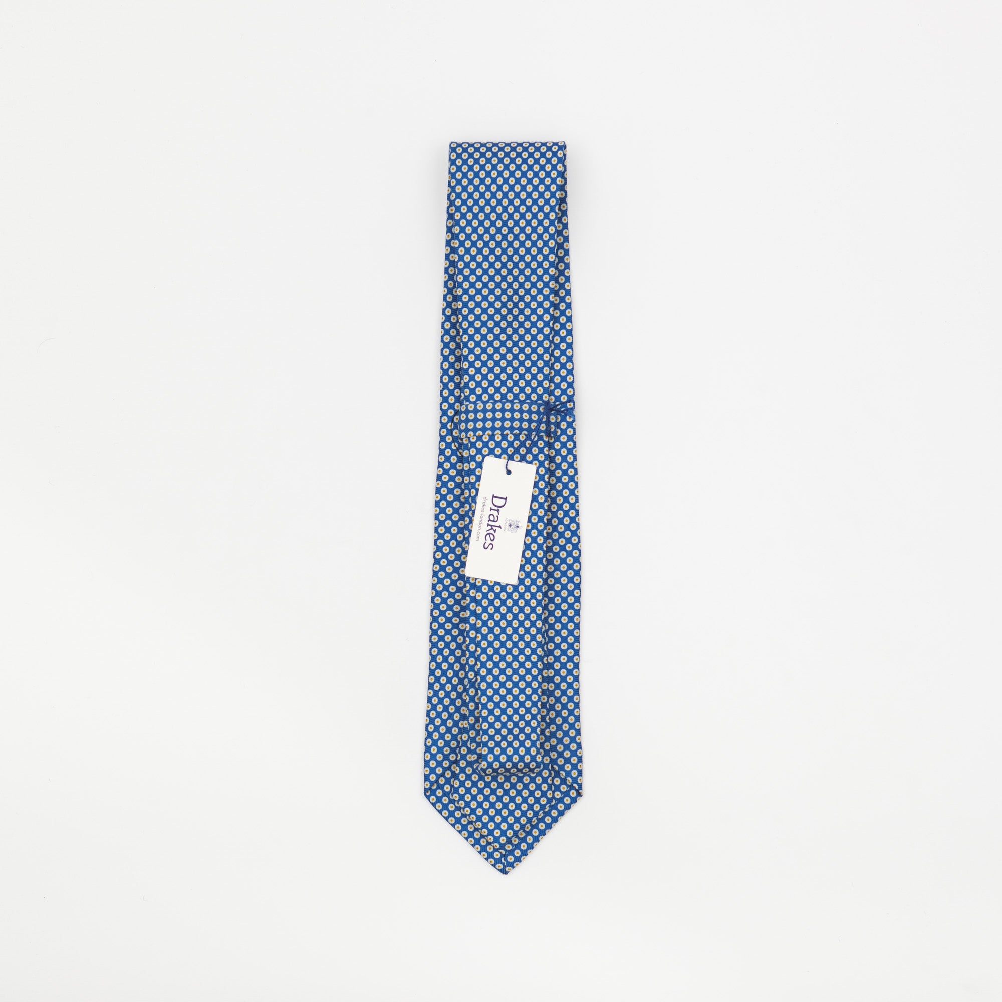 Blue & Yellow Spotted Tie