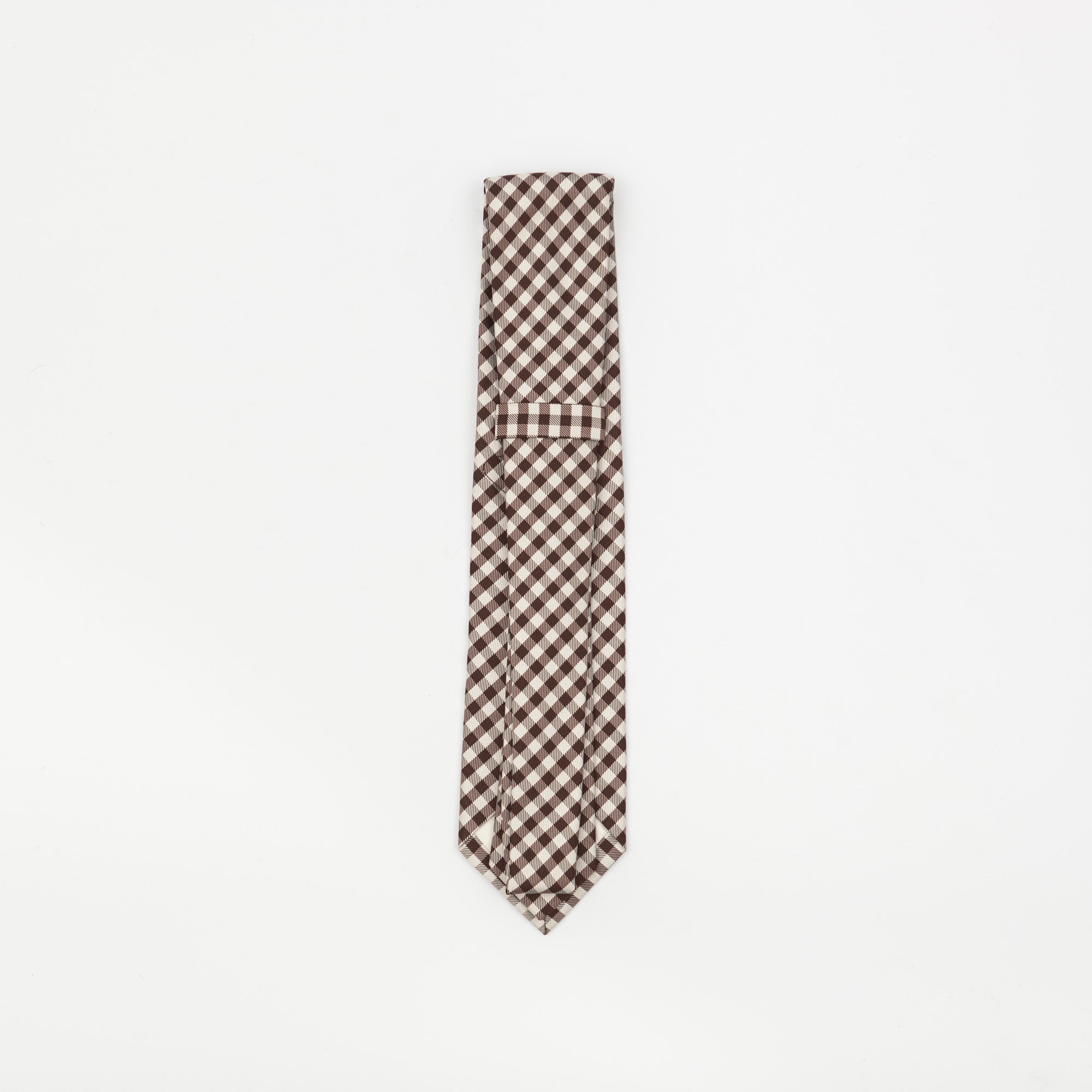 Gingham Checked Silk Tie