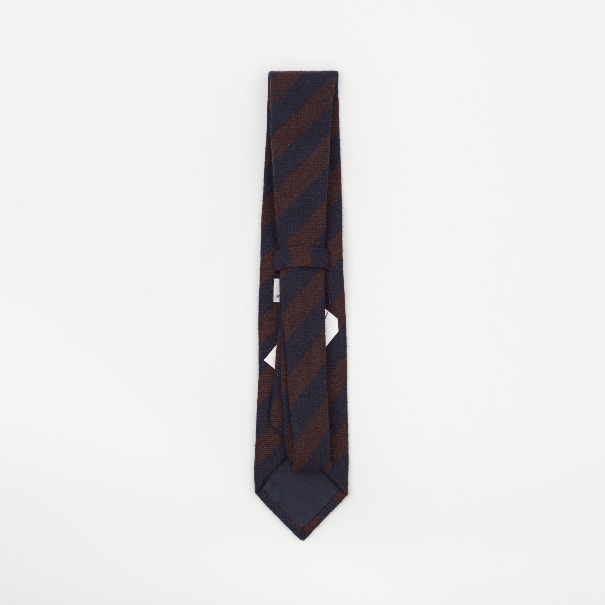 Burgundy & Navy Regimental Striped Tie