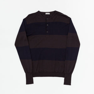Margaret Howell Striped Button Crew