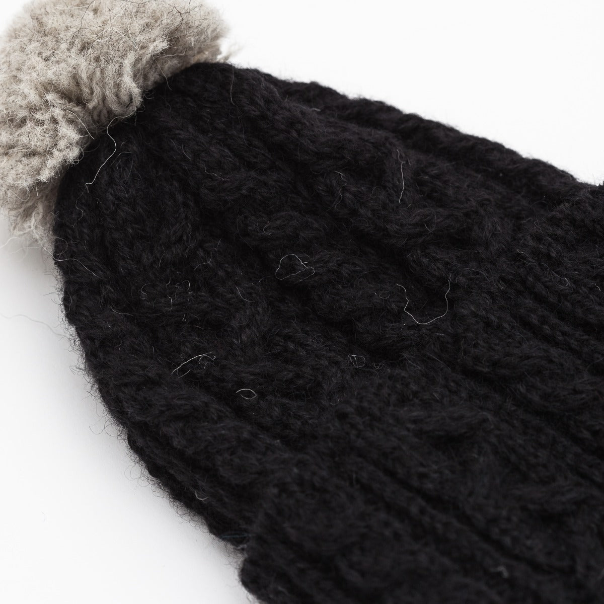 Cable Knit Hat - Alpaca / British Wool