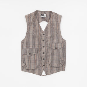Engineer Garments Check Cotton Vest