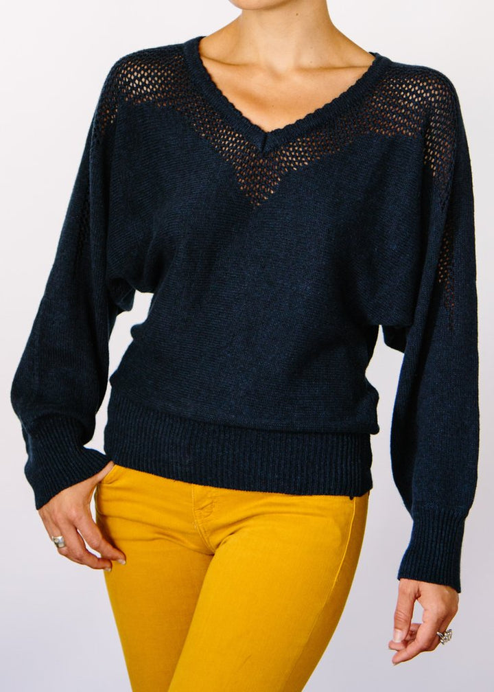 Opal Hemp Sweater - Navy