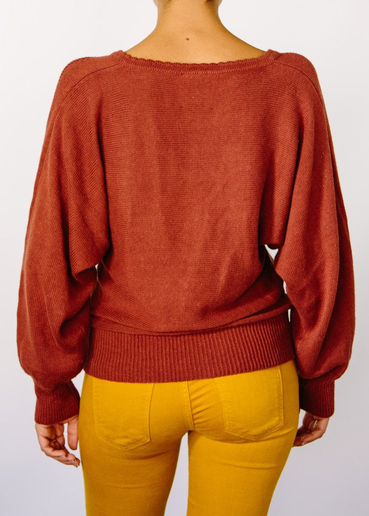 Opal Hemp Sweater - Rust