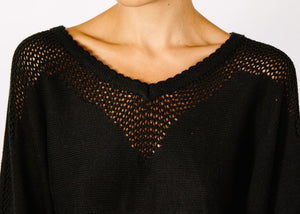 Opal Hemp Sweater - Black