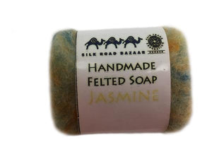 Felted Jasmine Soap