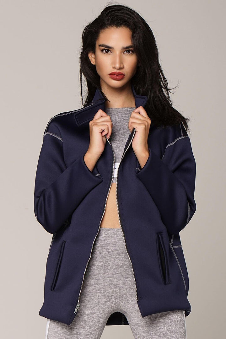 Om Jacket in Navy