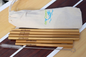 3 Complete Bamboo Straw Sets