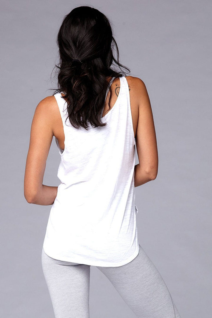Yogavated Mantra Tank - White