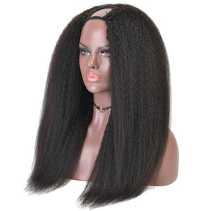 Kinky Straight U Part Wig
