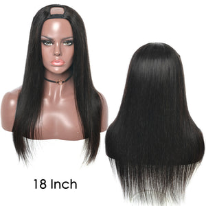 Natural Straight U Part Wig