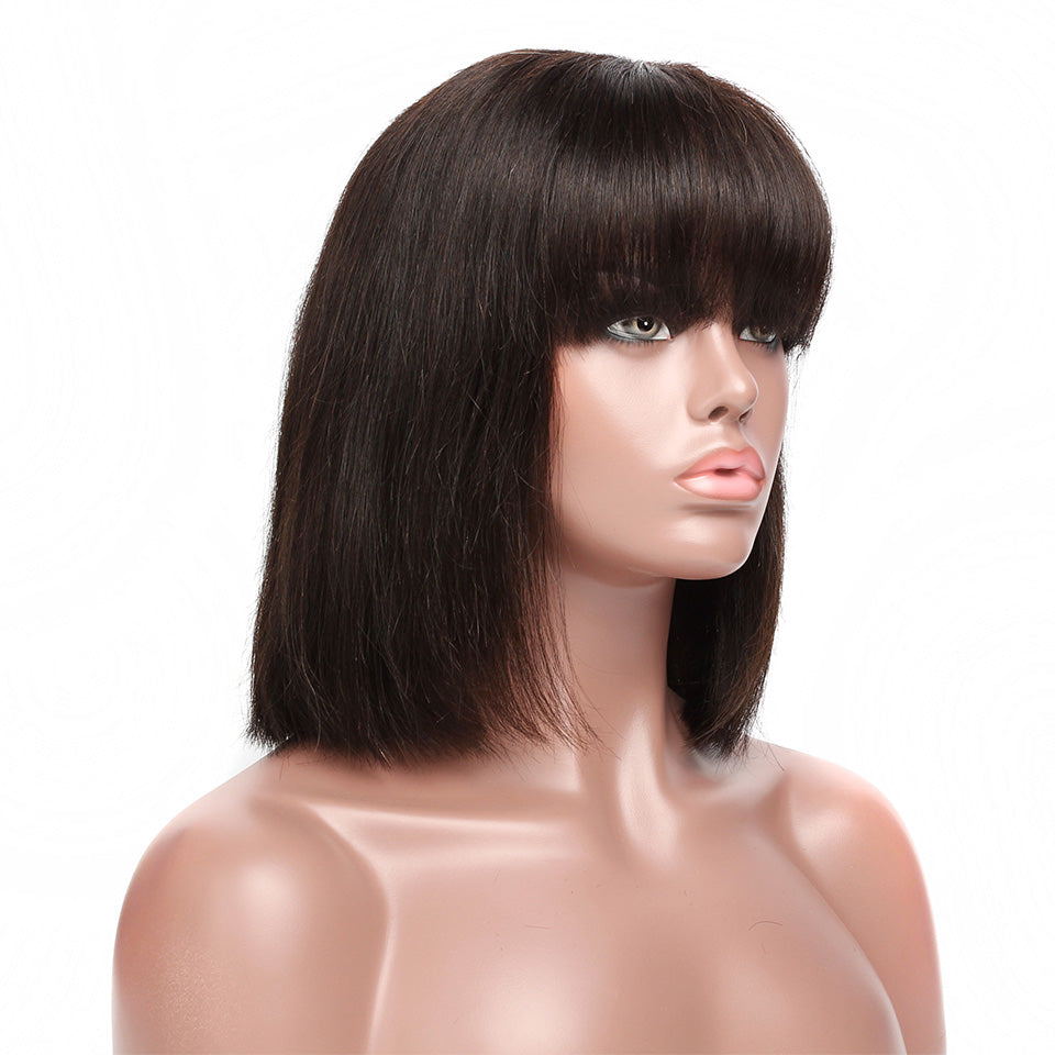 Natural Straight with Fringe