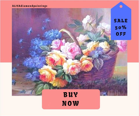 5d diamond painting kits flowers