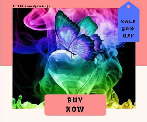 5d Diamond Painting Kits Rainbow Heart