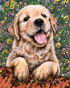 Dog Diamond Painting Full Drill Happy Puppy Alisa Diamond Paintings