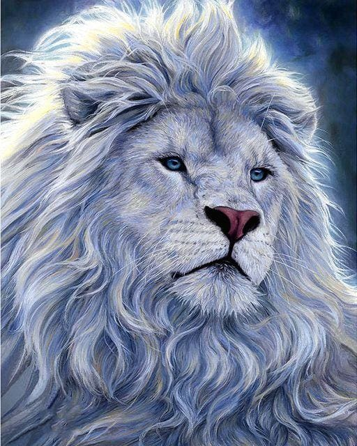 Grey Lion Diamond Painting Full Drill Alisa Diamond Paintings