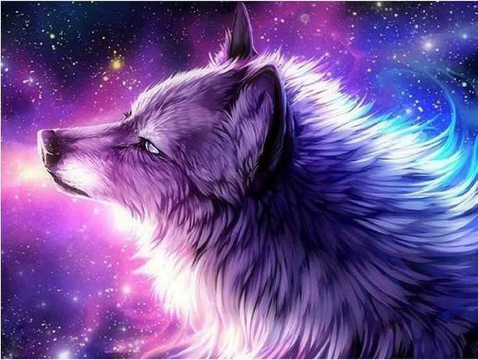 5D Diamond Painting Kit Wolf Abstract Alisa Diamond Paintings
