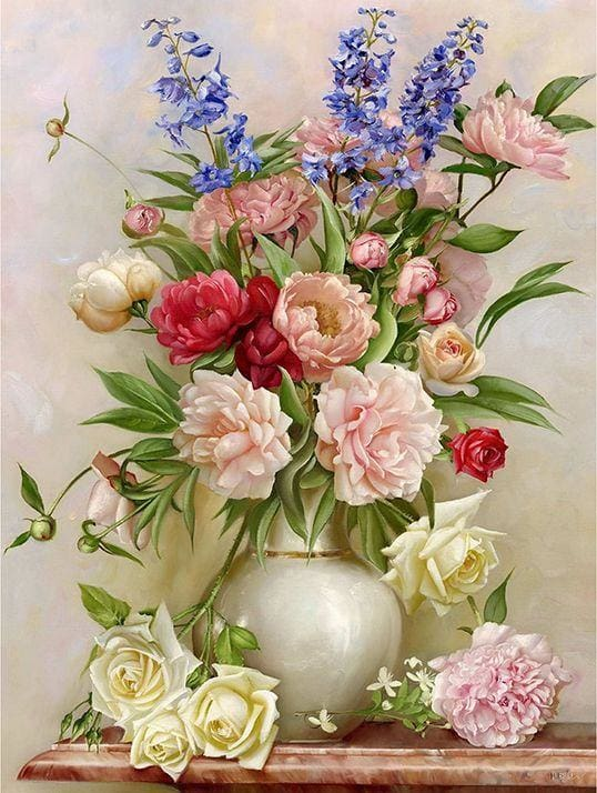 Full Square Drill Diamond Painting Kit Spring Flower Alisa Diamond Paintings
