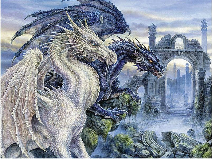 Full Drill Diamond Embroidery Painting Dragons 40X50 Alisa Diamond Paintings