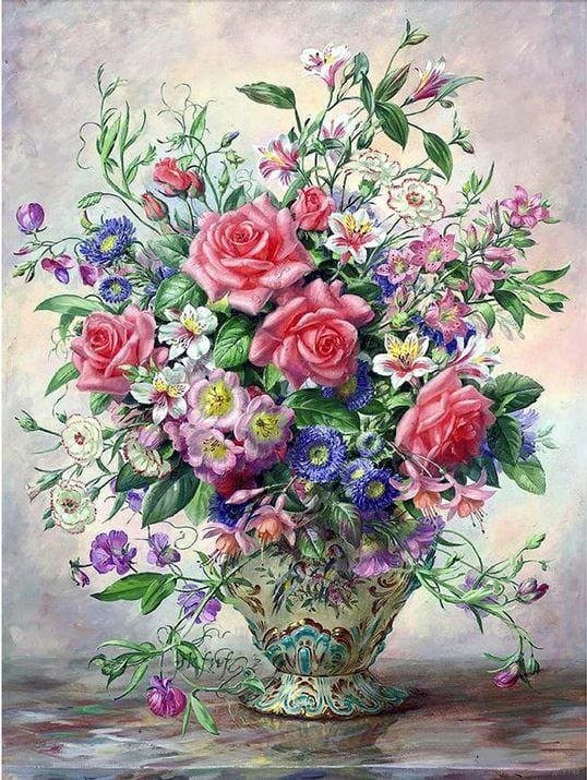 Full Square Drill Diamond Painting Kit Vintage Flower Alisa Diamond Paintings