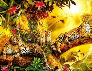 Full Square/round Drill Leopard 5D Diamond Painting Kit Alisa Diamond Paintings