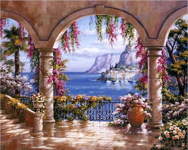 Landscape 5D Diamond Painting Kit Full Square Drill Sea View Alisa Diamond Paintings