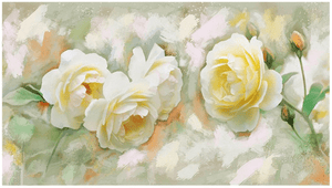 Vintage White Roses Flower 5d Diamond Painting