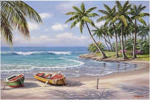 5D Diamond Painting Kit Full Square Drill Ocean Beach Alisa Diamond Paintings
