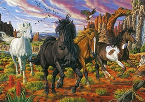 5D Diamond Painting Kit Full Square Drill Wild Horses Alisa Diamond Paintings