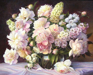 Pastel Flowers 5D Diamond Painting Alisa Diamond Paintings