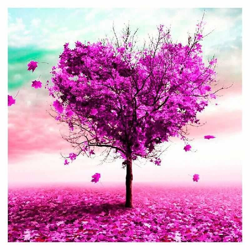 Heart Shape Purple Tree 2 Alisa Diamond Paintings