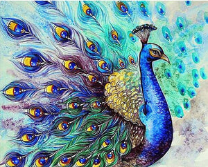 Blue Peacock Alisa Diamond Paintings