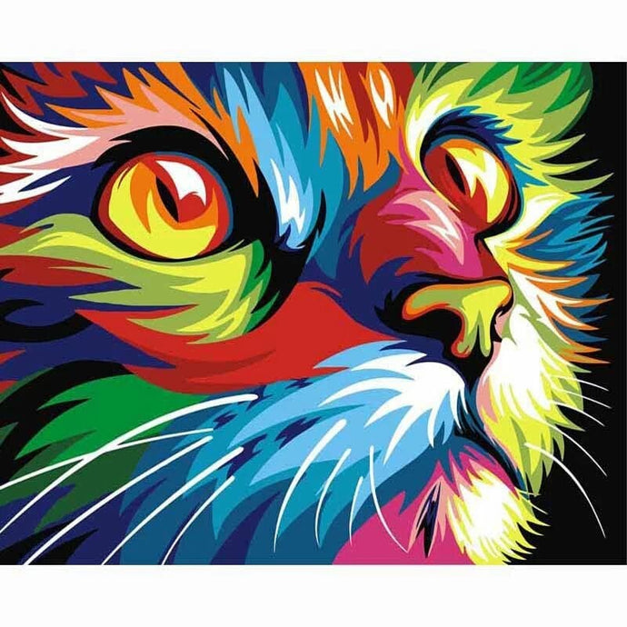 Colorful Draw Cat 5D Diy Animal Diamond Painting Kit Alisa Diamond Paintings