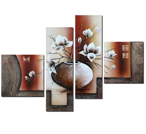 Magnolias Flowers Multi-Picture Combination Full Drill Square Diamond Painting Alisa Diamond Paintings