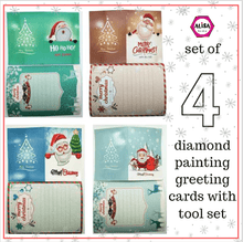 Paint With 5D Diamond Art Painting Christmas Greeting Cards Kit - Set of 4