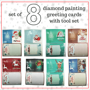 Paint With 5D Diamond Painting Christmas Greeting Cards Kit - Set of 8