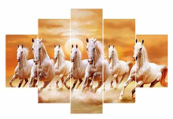 5 Pieces Full Square Drill 5d Diamond Paint Horses ALISA Diamond Paintings