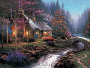 5d Diamond Painting Kit Full Square Drill Old Cottage Landscape ALISA Diamond Paintings