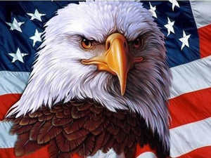 American Eagle With Flag Diamond Art Painting Kits ALISA Diamond Paintings