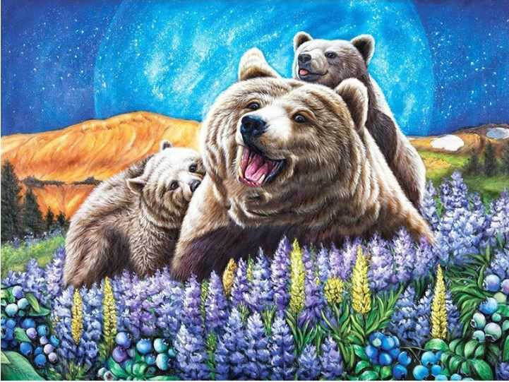 Bears Full Square/Round Beads Diamond Painting Animals Alisa Paintings