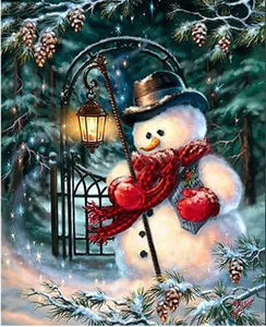 Christmas Theme Diamond Paint Kit Snowman ALISA Diamond Paintings