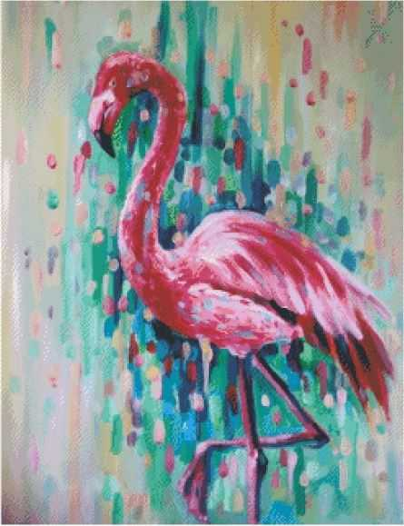Colorful Flamingo 5d Diamond Painting Embroidery Kits Animals Alisa Paintings