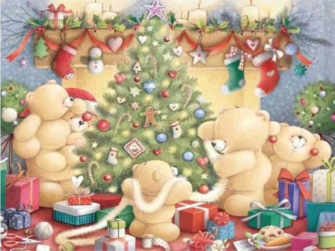 Diamond Painting Christmas Motif Teddy Bear ALISA Diamond Paintings