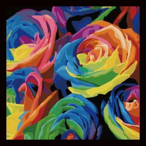 5d Diamond Embroidery Painting Kit Rainbow Roses Flowers