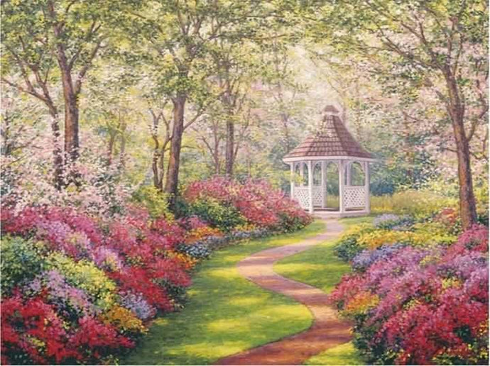 Diamond Painting Rhinestone Kit Pavilion ALISA Diamond Paintings