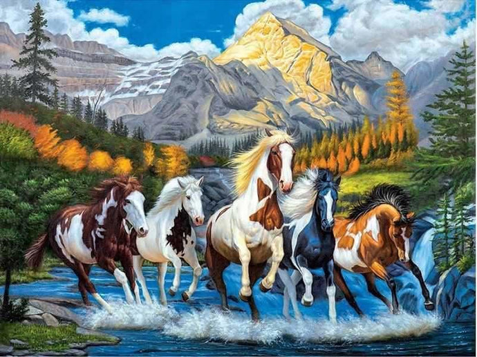 Full Drill Diamond Painting Embroidery Kit Horses ALISA Diamond Paintings