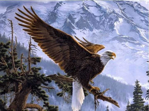 Full Drill Diamond Painting Embroidery Mountain Eagle ALISA Diamond Paintings