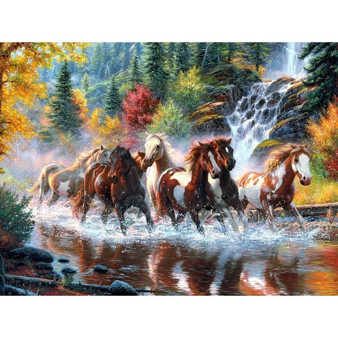 Wild Horses Full Drill Diamond Painting Alisa Diamond Paintings