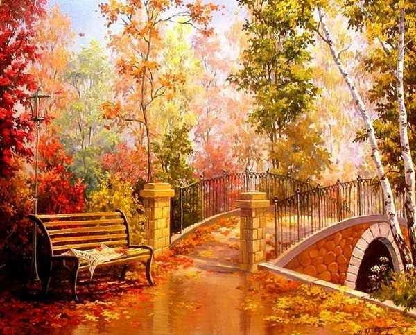 Autumn Forest Landscape Alisa Diamond Paintings