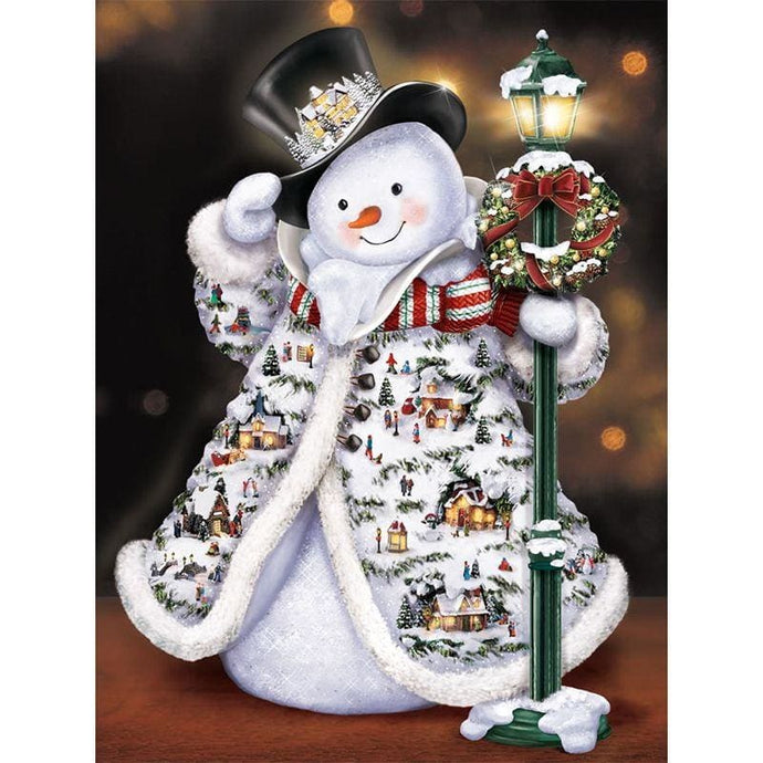 Full Diamond Embroidery Christmas Theme Snowman Alisa Diamond Paintings